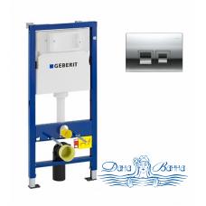 Инсталляция Geberit Duofix 458.103.00.1 UP100 для подвесного унитаза с клавишей Delta 50 115.135.21.1