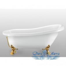 Ванна на лапах Magliezza Alba (155,5x72,5) ножки золото