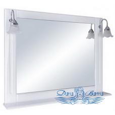 Зеркало СанТа Монарх (100 см) (белый)