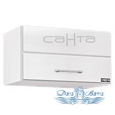 Шкаф подвесной СанТа Омега 50х30 горизонтальный (белый)