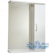 Зеркальный шкаф СанТа Стандарт Прима универсальное (50 см) (белый)