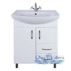 Тумба для ванной СанТа Стандарт Элеганс 65.1 (белый) (с 2-мя ящиками)