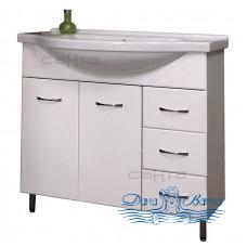 Тумба для ванной СанТа Стандарт Эльбрус 100 (белый)