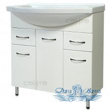 Тумба для ванной СанТа Стандарт Эльбрус 80 (белый)
