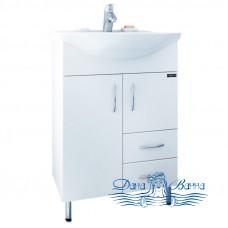 Тумба для ванной СанТа Стандарт Уют 55 (белый) (с 2-мя ящиками)