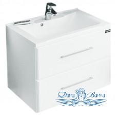 Тумба для ванной СанТа Омега 60 (белый) (подвесной) (с 2-мя ящиками)