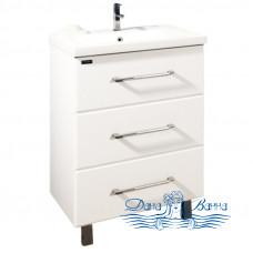 Тумба для ванной СанТа Омега 60 (белый) (с 3-мя ящиками)