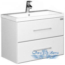 Тумба для ванной СанТа Омега 70 (белый) (подвесной)