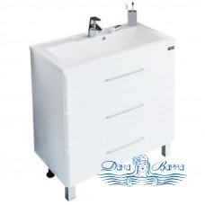 Тумба для ванной СанТа Омега 70 (белый) (с 3-мя ящиками)