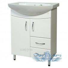 Тумба для ванной СанТа Стандарт Сити 60 (белый) (с 2-мя ящиками)
