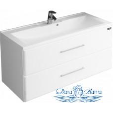 Тумба для ванной СанТа Омега 100 ELEN (белый) (подвесной)