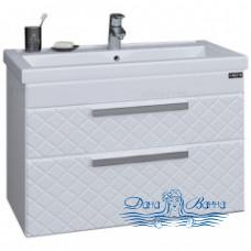 Тумба для ванной СанТа Калипсо 80 NEW (белый) (подвесной)