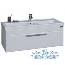 Тумба для ванной СанТа Калипсо 100 NEW (белый) (подвесной)