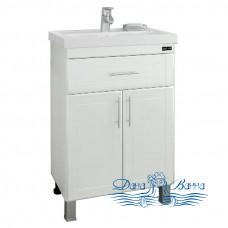 Тумба для ванной СанТа Дублин 60 (две дверки и ящик)