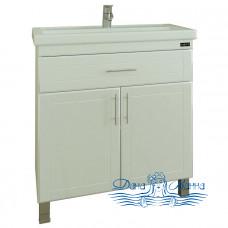 Тумба для ванной СанТа Дублин 80 (две дверки и ящик)
