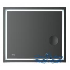 Зеркало AM.PM Gem (M91AMOX0803WG) (80 см) с LED-подсветкой, часами и косметическим зеркалом