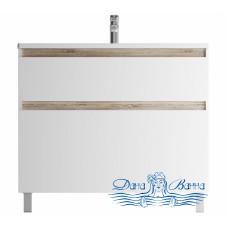 Тумба для ванной AM.PM X-Joy (M85AFSX1002WG) 100 см напольная (два ящика) белый глянец