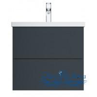 Тумба для ванной AM.PM Gem (M90FHX06022GM) 60 см подвесная (два ящика) графит матовый