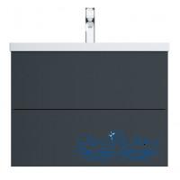 Тумба для ванной AM.PM Gem (M90FHX07522GM) 75 см подвесная (два ящика) графит матовый