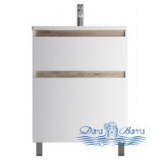 Тумба для ванной AM.PM X-Joy (M85AFSX0652WG) 65 см напольная (два ящика) белый глянец