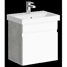 Тумба для ванной Aqwella Смарт 50 (бетон светлый)