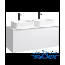 Тумба для ванной Aqwella Mobi 120 (MOB0112W+MOB0712W) белый