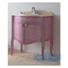 Тумба с раковиной Аллигатор Royal Комфорт 70 A (M) розовый, старый лак