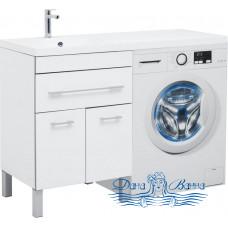 Тумба для ванной Aquanet Верона 120 L напольная 1 ящик 2 дверцы (белый)