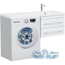 Тумба для ванной Aquanet Верона 120 R подвесная 2 ящика (белый)