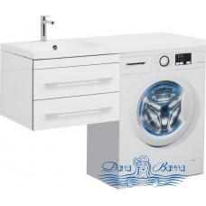 Тумба для ванной Aquanet Верона 120 L подвесная 2 ящика (белый)