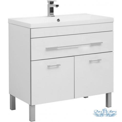 Тумба для ванной Aquanet Верона NEW 90 напольная 1 ящик 2 дверцы (белый)