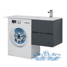 Тумба для ванной Aquanet Алвита 120 R серый антрацит