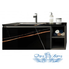 Тумба с раковиной Orans BC-V8101-1000 Black (100 см)