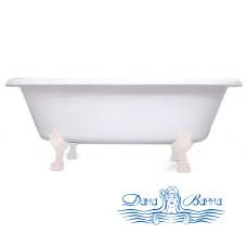 Ванна из литьевого мрамора Castone Неона NEW 180x90 ножки белые