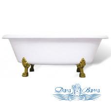 Ванна из литьевого мрамора Castone Неона NEW 180x90 ножки бронза