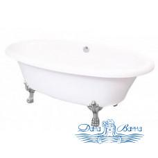 Ванна из литьевого мрамора Castone Неона NEW 180x90 ножки хром