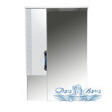Зеркальный шкаф Misty Престиж 60 L/R белый/серебряная патина (с подсветкой)