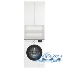 Шкаф над стиральной машиной Misty Амур 60 с полками (белый)