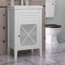 Тумба для ванной Opadiris Палермо 50 белый матовый (L/R)