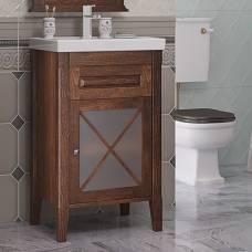 Тумба для ванной Opadiris Палермо 50 светлый орех (L/R)