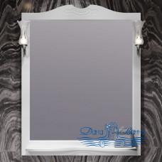 Зеркало Opadiris Брунелла 80 белый матовый (со светильниками)