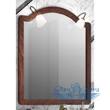 Зеркало Opadiris Виктория 90 орех с темной патиной (со светильниками)