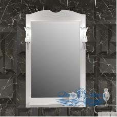 Зеркало Opadiris Клио 65 белый матовый (со светильниками)