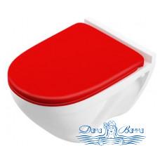 Унитаз подвесной Sanita luxe Attica SC Red (с микролифтом) ATCSLWH0111