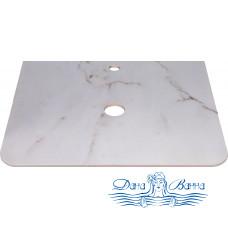 Столешница Style Line Атлантика 60 ID01 белый глянцевый мрамор