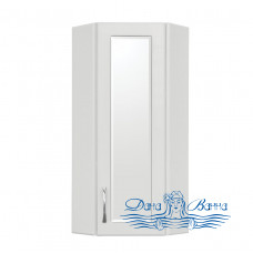 Шкаф подвесной Style Line Эко Стандарт 30 угловой белый (с зеркалом)