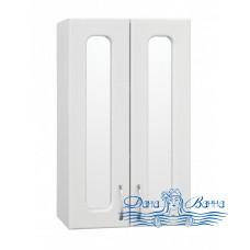 Шкаф подвесной Style Line Эко Стандарт 48 белый (с зеркальными вставками)