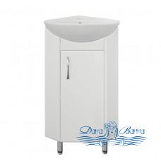 Тумба для ванной Style Line Эко Стандарт Веер 30 (угловая) (белый)