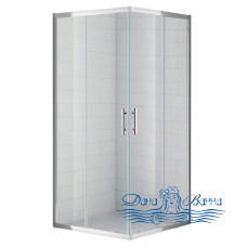 Душевой уголок Cezares Eco A2 80 C Cr стекло прозрачное 80х80
