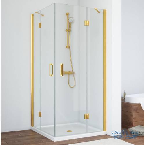 Душевой уголок Vegas Glass AFA 100 09 01 профиль золото, стекло прозрачное